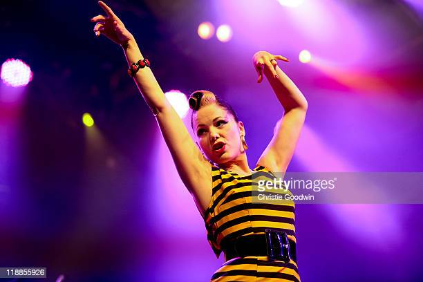 Imelda May performs on stage during Summer Series at Somerset House on July 11 2011 in London United Kingdom