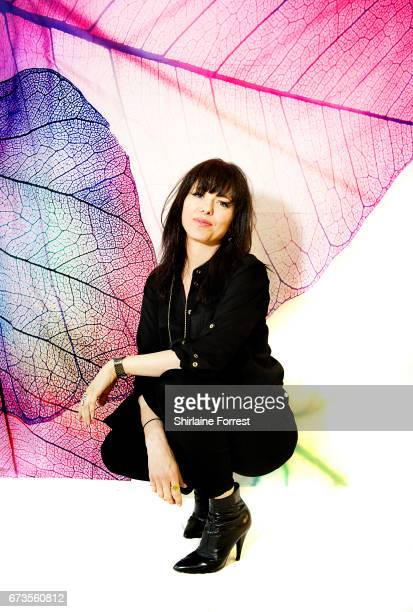 Imelda May poses at HMV Manchester in celebration of her new album 'Life Love Flesh Blood' on April 26 2017 in Manchester United Kingdom