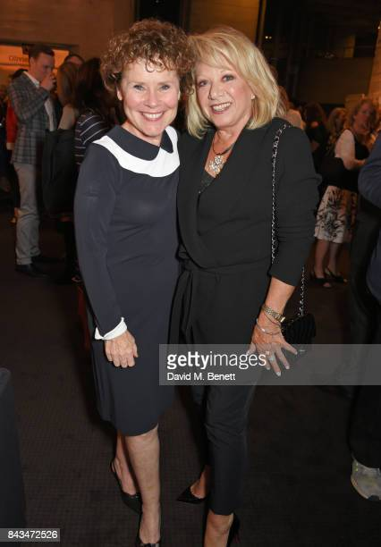 Imelda Staunton and Elaine Paige attend the press night performance of 'Follies' at The National Theatre on September 6 2017 in London England