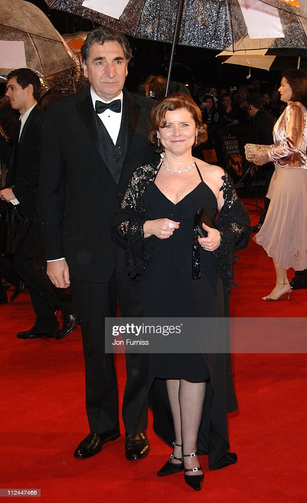 Imelda Staunton and guest during The Orange British Academy Film Awards 2006 - Outside Arrivals at Odeon Leicester Square in London, Great Britain.
