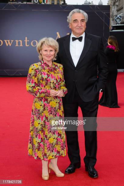 Imelda Staunton and Jim Carter attend the Downton Abbey World Premiere at Cineworld Leicester Square on September 09 2019 in London England