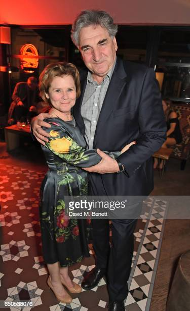 Imelda Staunton and Jim Carter attend the press night after party for Who's Afraid Of Virginia Woolf at 100 Wardour St on March 9 2017 in London...