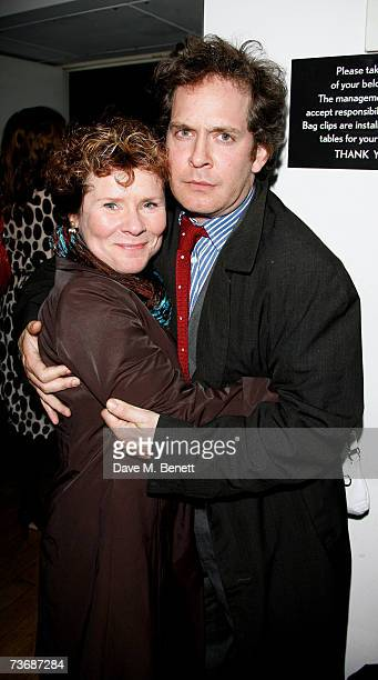 Imelda Staunton and Tom Hollander attend the a fundraiser party for the Almeida Theatre at the Almeida Theatre on March 23 2007 in London England