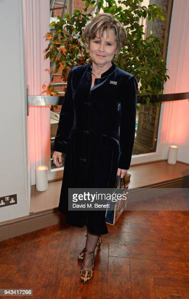 Imelda Staunton attends The Olivier Awards with Mastercard at Royal Albert Hall on April 8 2018 in London England