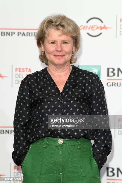 Imelda Staunton attends the photocall of the movie Downton Abbey during the 14th Rome Film Festival on October 19 2019 in Rome Italy