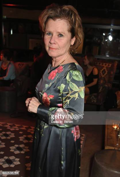 Imelda Staunton attends the press night after party for Who's Afraid Of Virginia Woolf at 100 Wardour St on March 9 2017 in London England