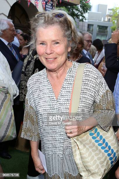 Imelda Staunton attends the press night performance of 'Pressure' at The Ambassadors Theatre on June 6 2018 in London England