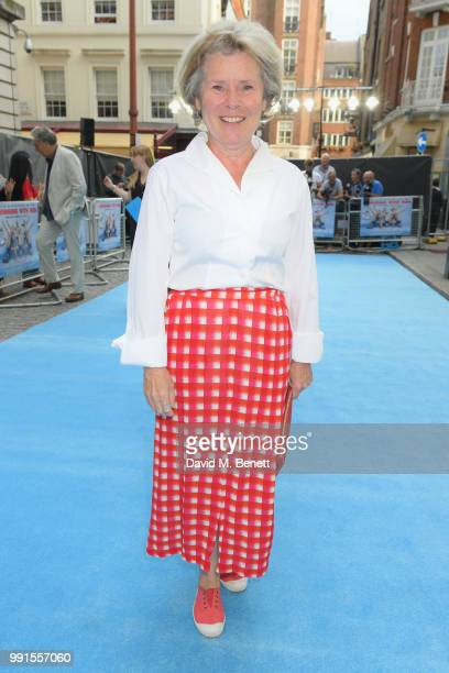 Imelda Staunton attends the UK Premiere of Swimming With Men' at The Curzon Mayfair on July 4 2018 in London England