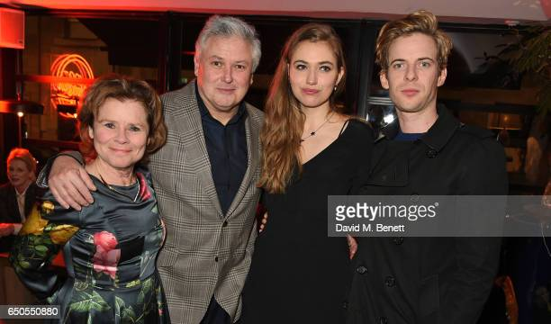 Imelda Staunton Conleth Hill Imogen Poots and Luke Treadaway attend the press night after party for Who's Afraid Of Virginia Woolf at 100 Wardour St...