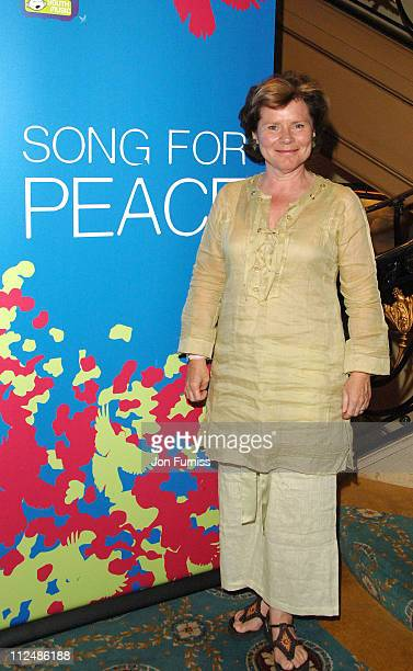 Imelda Staunton during Song For Peace Performance in London