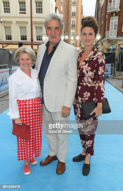 Imelda Staunton Jim Carter and Bessie Carter attend the UK Premiere of Swimming With Men' at The Curzon Mayfair on July 4 2018 in London England