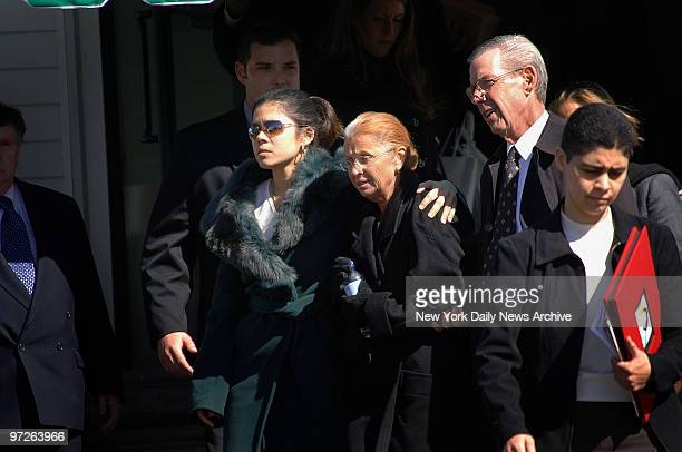 Imette St Guillen's sister Alejandra St Guillen mother Maureen St Guillen and stepfather leave the William J Gormley Funeral Home in the West Roxbury...
