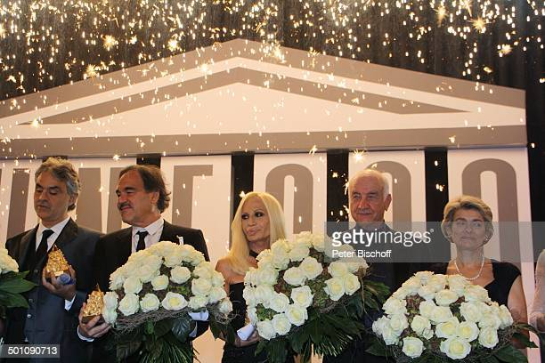 Imina Bukova Armin MuellerStahl Donatella Versace Oliver Stone Andrea Bocelli Lebensgefährtin Veronica CharityVeranstaltung 18 UnescoBenefizGala 2010...