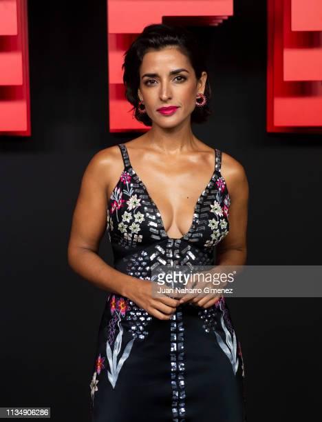 Imma Cuesta attends the red carpet during the Netflix presentation party at the Invernadero del Palacio de Cristal de la Arganzuela on April 4 2019...
