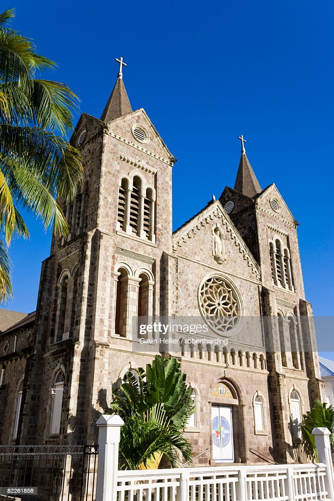 Immaculate Conception Cathedral, Basseterre, St. Kitts, Leeward Islands, West Indies, Caribbean, Central America : Stock Photo