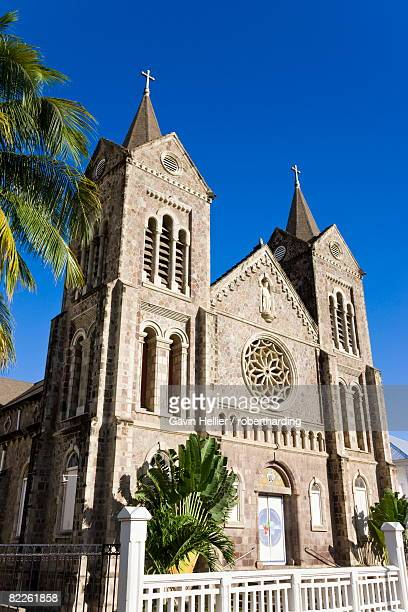 immaculate conception cathedral, basseterre, st. kitts, leeward islands, west indies, caribbean, central america - st. kitts stock photos and pictures