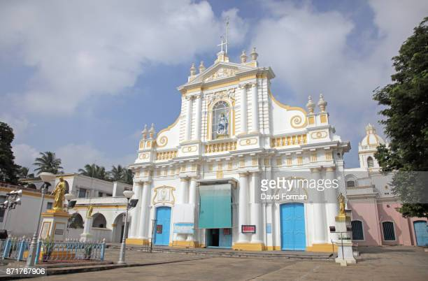 Immaculate Conception Cathedral in Pondicherry, India.