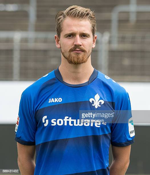 Immanuel Hoehn poses during the Darmstadt 98 Team Presentation on August 11 2016 in Darmstadt Germany