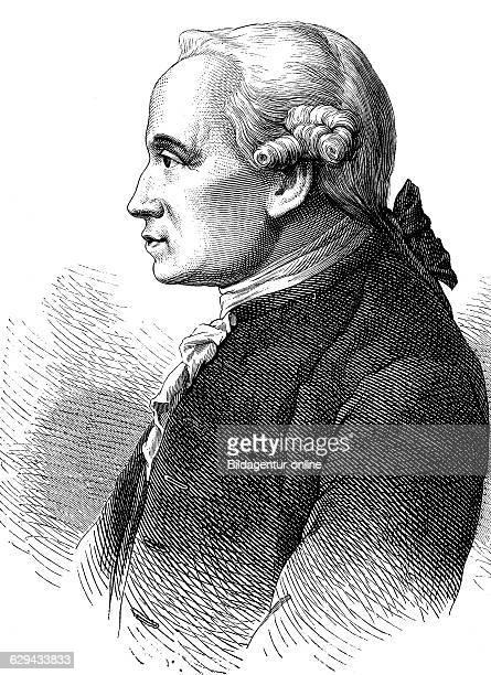 Immanuel kant 1724 1894 philosopher of the enlightenment historical illustration 1877