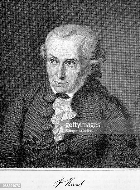 Immanuel Kant 17241804s a German philosopher who is considered the central figure of modern philosophy woodcut from the year 1882 digital improved