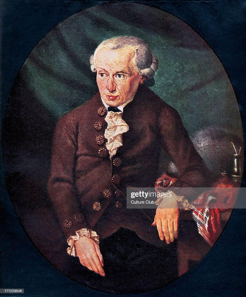 Immanuel Kant - portrait. Painting by Döbler, 1791. German Prussian philosopher, : News Photo