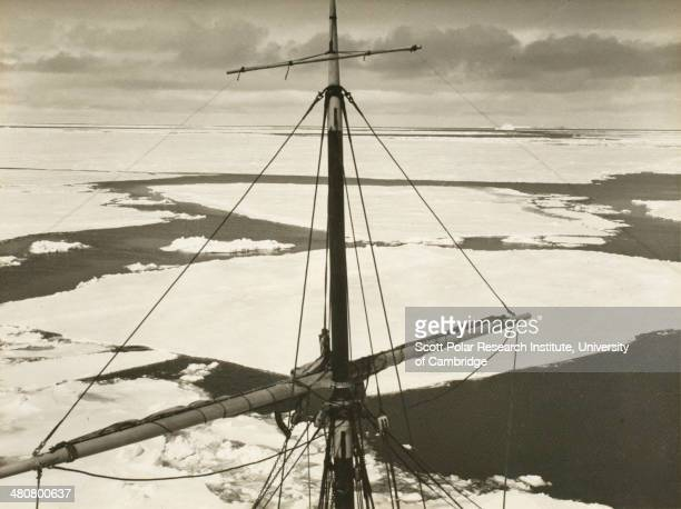 Immense floes of pack ice seen from the masthead of the 'Endurance' during the Imperial TransAntarctic Expedition 191417 led by Ernest Shackleton