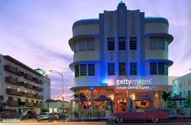 Immeuble art d?co, Miami Beach, Floride, Usa.