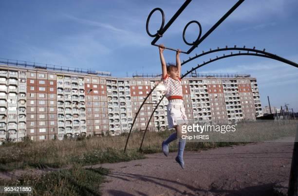 Immeubles d'architecture soviétique en septembre 1991 à Kaliningrad en URSS
