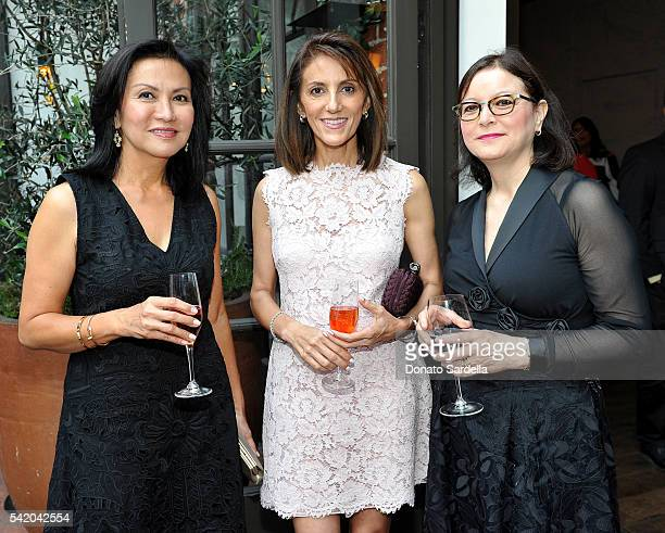 Immie Soeharto Jina Veaco and Patricia Didier attend as Susan Casden and Friends of The Costume Institute The Metropolitan Museum of Art host a...