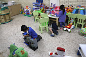mcallen tx immigrant children play at