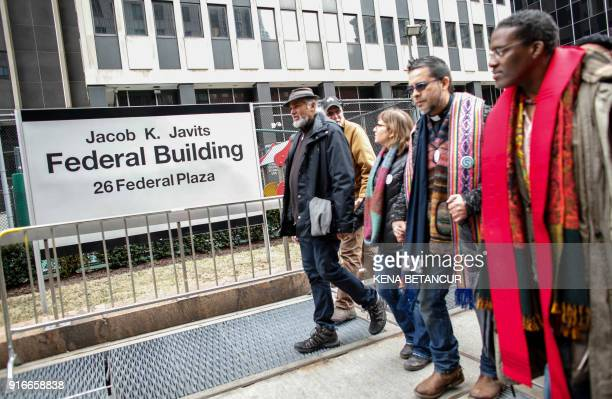 Immigrant rights activist Ravi Ragbir walks in front of the Immigration building during a Rally a day after he granted temporary stay of deportation...