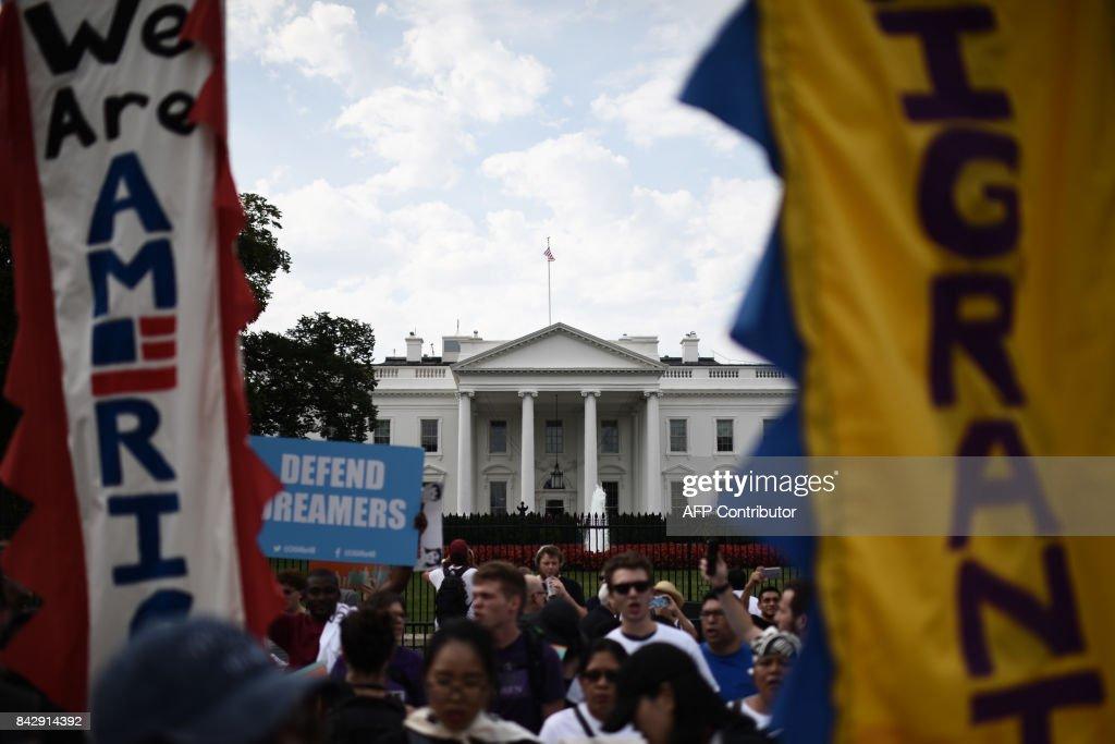 US-POLITICS-IMMIGRATION-DACA-DEMONSTRATION : News Photo