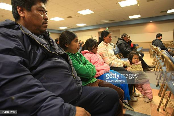 Immigrants are taught their legal rights at a forum during Know Your Rights Week on December 15 2008 in Los Angeles California The educational effort...