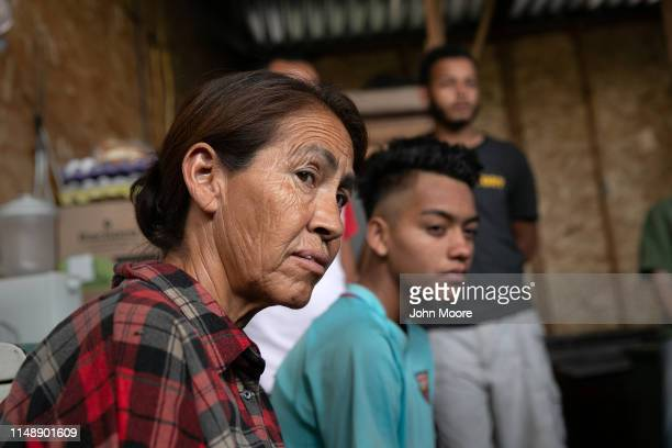 Immigrants listen as American activists hold an educational session on US political asylum while at an immigrant shelter on May 09 2019 in Sonoyta...