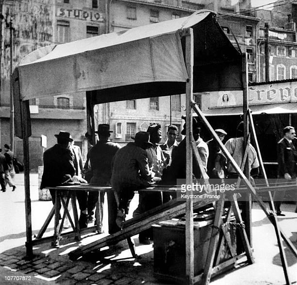 FRANCE CIRCA 1950 Immigrants Population Marseilles A In 1950