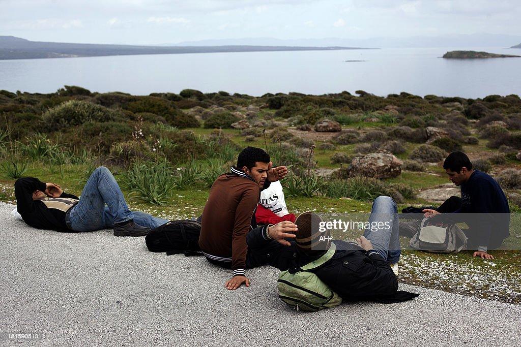 GREECE-TURKEY-ITALY-IMMIGRATION : News Photo