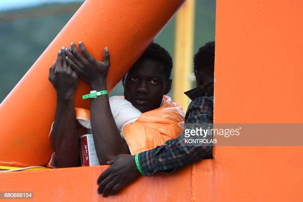 Immigrants would be refugees disembark from the Norwegian rescue ship Siem Pilot after rescued in Mediterranean Sea near Libya Salerno Southern Italy