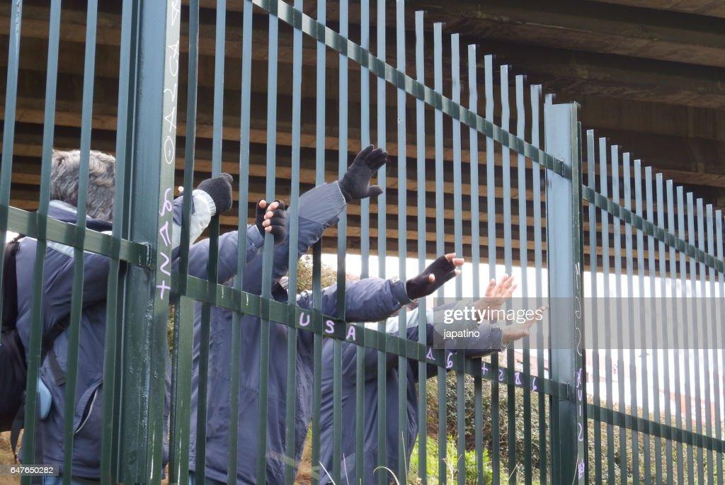 Immigratión : Foto de stock