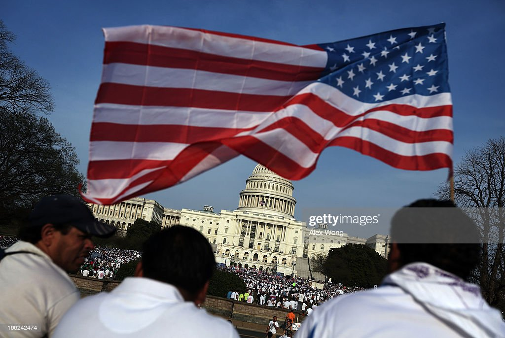 Protestors Rally For Immigration Reform At Nation's Capitol : News Photo