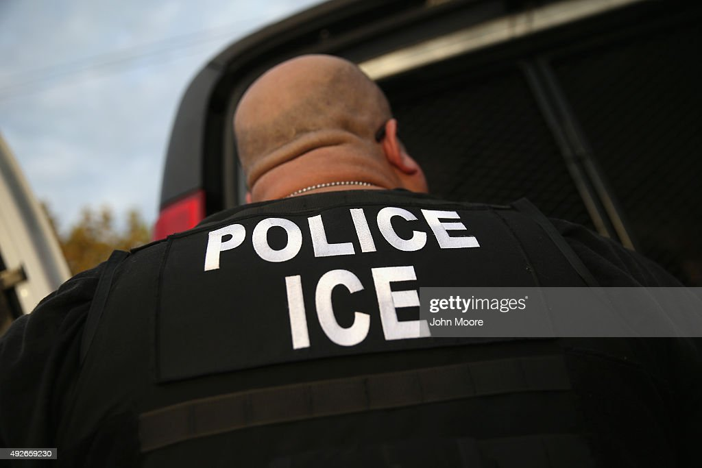 ICE Agents Detain Suspected Undocumented Immigrants In Raids : News Photo