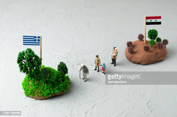 immigration from syria to greece - emigration and immigration stock pictures, royalty-free photos & images