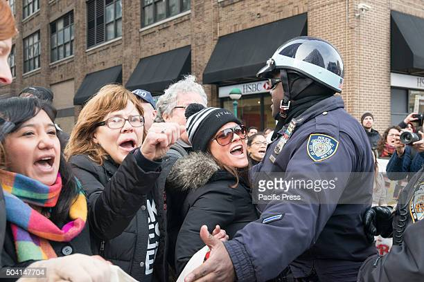 Immigration reform activist rallied at the Federal Building on Varick Street in Manhattan to call for an end to raids in New York City by the...