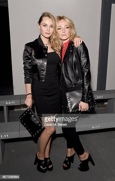 Immy Waterhouse and Clara Paget attend the VERSUS show during London Fashion Week Spring/Summer collections 2017 on September 17 2016 in London...