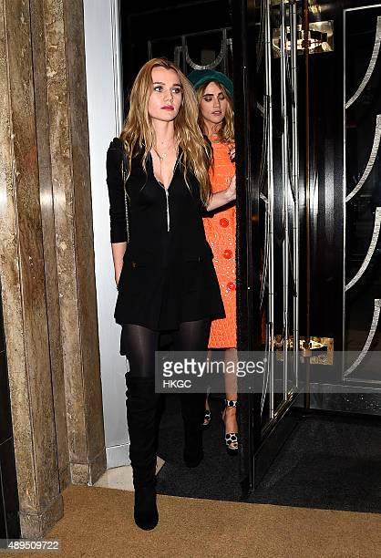 Immy Waterhouse and Suki Waterhouse attend Love Magazine's Party at Lulu's Member's Club on September 21 2015 in London England
