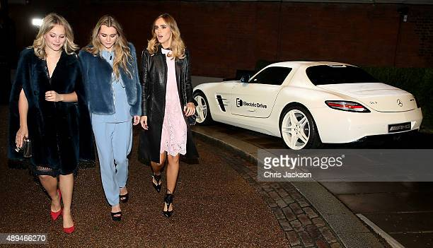 Immy Waterhouse and Suki Waterhouse attend The 2015 Green Carpet Challenge by Erdem in partnership with MercedesBenz at The Wallace Collection on...