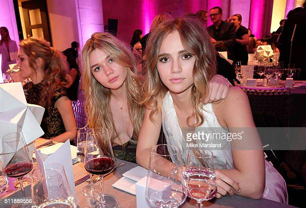 Immy Waterhouse and Suki Waterhouse attend The Elle Style Awards 2016 on February 23 2016 in London England
