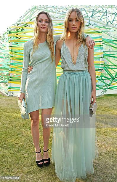 Immy Waterhouse and Suki Waterhouse attend The Serpentine Gallery summer party at The Serpentine Gallery on July 2 2015 in London England