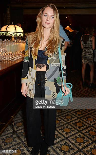 Immy Waterhouse attends Harvey Weinstein's BAFTA Dinner in partnership with Burberry GREY GOOSE at Little House Mayfair on February 6 2015 in London...