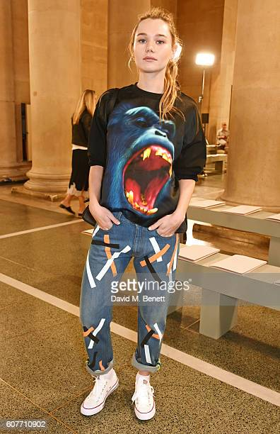 Immy Waterhouse attends the Christopher Kane show during London Fashion Week Spring/Summer collections 2017 on September 19 2016 in London United...