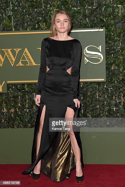 Immy Waterhouse attends the Evening Standard Theatre Awards at The Old Vic Theatre on November 22 2015 in London England